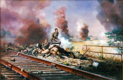 The action at Nimy railway bridge, near Mons, 23rd August 1914
